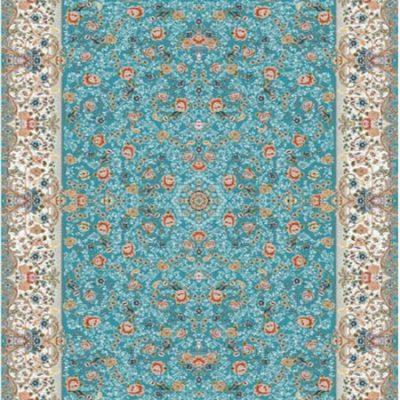 خرید فرش ماشینی 700 شانه در اصفهان طرح گل پری 8017