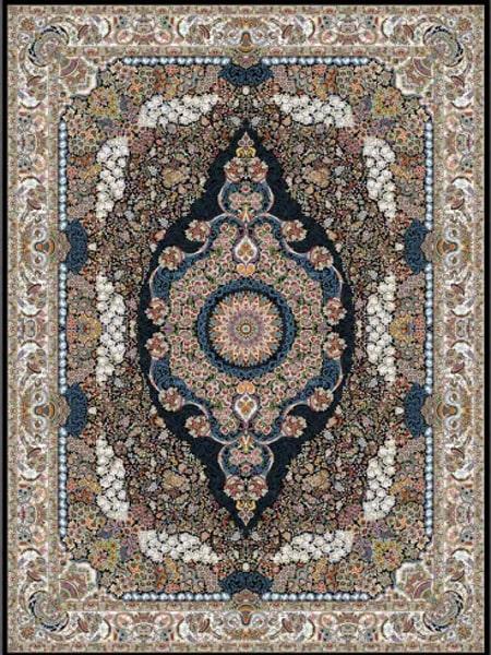 فرش قالی سلیمان طرح گل نشان