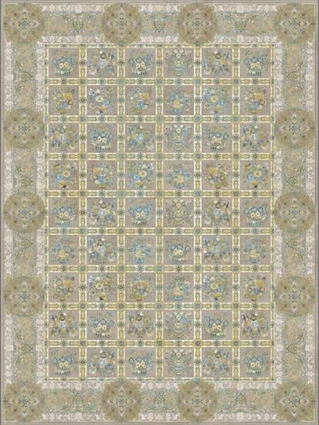 فرش قالی سلیمان طرح Map 6