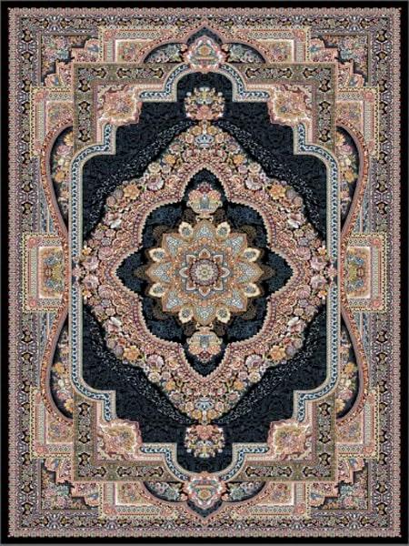 فرش قالی سلیمان طرح مهر و ماه