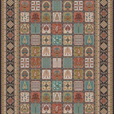 خرید فرش خشتی طرح سلطان برند قالی سلیمان